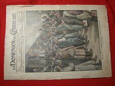 La domenica del corriere 1916 n.2 Ospiti eroici Bari Ufficiali serbi feriti