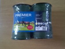 Electric fencing tape 20mm x 200m GREEN tape  1 pack of 2 rolls, 400m