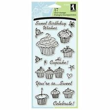 INKADINKADO clear cling stamps BIRTHDAY CUPCAKE for Card making & stamping NEW