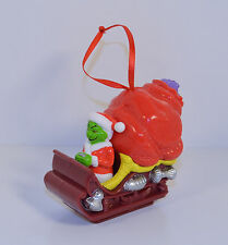 """2000 Sleigh Ornament 3"""" Wendy's Dr Seuss How The Grinch Stole Christmas"""