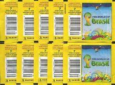 WM 2014 - 10x Tüte a 7 Sticker,  Packet,  Bustina, Pochette -  mit Barcode !