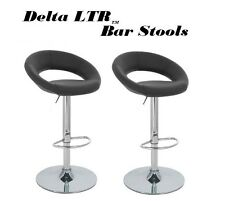 Delta LTR Faux Leather Adjustable Swivel Bar Stools - Set of 2