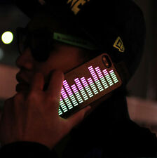 Funny Sound-Activated EL Music Light up Case For iPhone 5S 5 LED Gadget Black