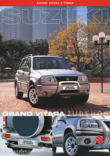Suzuki Grand Vitara 5-T. Zubehör Prospekt 3/01 D brochure prospectus accessories