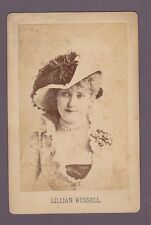 1890s Lillian Russell - Classic Theater Actress - Original Cabinet Photograph #3