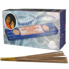 Genuine Original Satya Sai Baba Nag Champa Incense Sticks Agarbatti Pack of 12