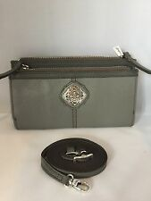 Brighton Afrikanz Gray Cross Body Organizer Handbag Wallet  NWT