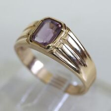 VINTAGE MEN'S SOLID 10K GOLD & AMETHYST RING, 5.4 grams, size 10.5