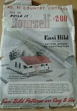 VINTAGE EASI-BILD COTTAGE Tiny House Build It Yourself plans 1946