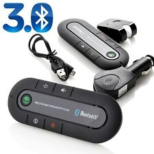 Wireless Bluetooth Hands Free Car Kit Speakerphone Speaker Phone Visor Clip USA