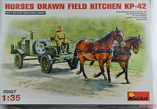 New Mini Art Soviet Horse drawn Field Kitchen complete with horses 1:35th scale