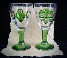 God & Goddess Chalices Wicca Pagan Altar Ivy & Oak Leaf Handfasting Gift