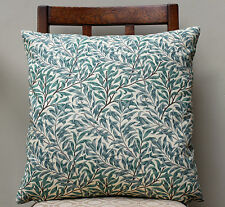 "Cushion Cover in William Morris Willow Bough - 16"" x 16"" Sanderson Fabric"
