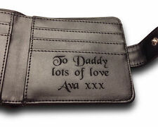 Personalised Men's Leather Wallet Valentines Day Husband Boyfriend Unique Gift