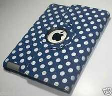Polka Dots 360°Rotate Smart Cover Leather Case For Apple iPad 2 New IPad 3/4