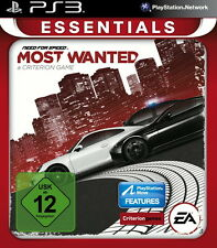 Need For Speed: Most Wanted -- Essentials (Sony PlayStation 3, 2014, DVD-Box)