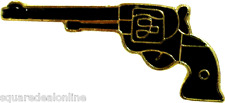47029 Six Shooter ENAMEL PIN Badge Button Lapel Pistol Revolver Gun
