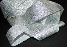 ***  SILVER WITH IRIDESCENT EDGE - XMAS -  Ribbon - 40mm Wide ***