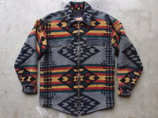 Vintage Easyriders Wool Leather Western Motorcycle Shirt S Navajo USA Jacket