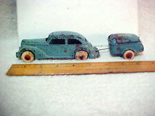 """MULLINS RED CAP  2-piece CAST IRON CAR & TRAILER  -  Arcade, 1935"