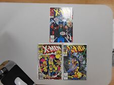 X-Men comic lot of 3! #'s 245, 254 and 262! VF8.0 to NM range! Copper Marvel!