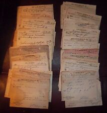 Collection of 50 Vintage RX Doctor Prescriptions Paper 1950's Alabama