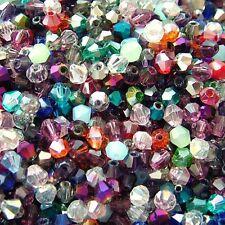 50 perles intercalaire en verre swarovski cristal toupie couleur mixte 4 x 4 mm