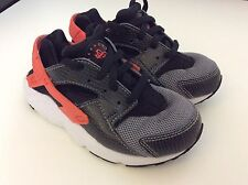 Nike Huarache Kids Trainers Uk10 Infants, Eu27.5 Grey & Orange, Gc