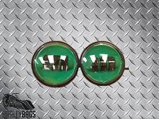 """Green Daymaker LED Fog Lights 4.5"""" Spot Passing Auxiliary for Harley Davidson"""