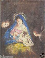"""Escena bíblica """"María con el niño * Santo Noche"""" navidad ý cuadros oleos"""