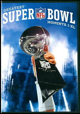 NFL FOOTBALL GREATEST SUPER BOWL MOMENTS DVD I-XL PACKERS COWBOYS STEELERS MIAMI