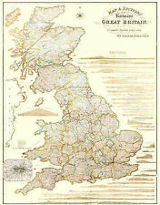 Map and Sections of the Railways of Great Britain 1839 by George Bradshaw: Lamin