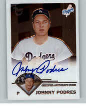 2003 Topps Retired Signature Autographs Johnny Podres G Auto - NM-MT+,  *SEWALL*