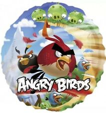 """Angry Birds 17"""" Round Foil Balloon - For Helium Or Air"""