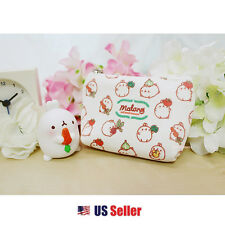 Marshmallow Bunny Lovely Molang Mini Eco Pouch with Zipper Charm : Vegatable