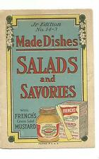 Old Recipe Leaflet French's Mustard Salads & Savories RT French Rochester NY