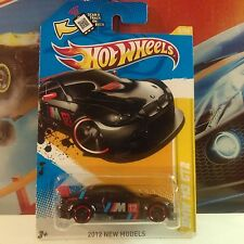HOT WHEELS 2012 NEW MODELS BMW M3 GT2 BLACK DIECAST CAR MOC 1:64