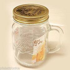 Confezione da 3pz Bicchiere vaso boccale con manico e tappo 4 stagioni Bormioli