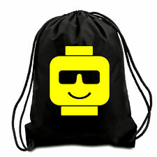 Cool Block Head Drawstring Bag,Gym Sack,PE Bag,Swimming Bag