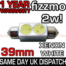39MM INTERIOR LIGHT 239 272 C5W FESTOON BULB 2w HIGH POWER SMD LED XENON WHITE