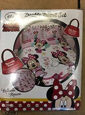 Double Disney Minnie Mouse Duvet Set (reversible) Brand New