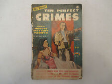 1954 Ten Perfect Crimes Hank Sterling Rainbow Books paperback GD/VG