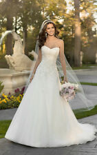 Glamorous A Line Strapless Sweetheart Lace Wedding Dresse Size 6 10 12 14 16 20