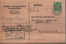 BERLIN, Postkarte 1925, Deutscher-Landwirtschaftlicher-Formular-Verlag GmbH
