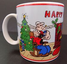 "Popeye - Happy Holidays Mug/Cup - Vintage 1991 - ""Presents"""