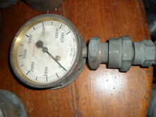 old brass ships engine room gauge