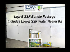 Low-E SSR 2 Car Garage Door White Insulation and Water Heater Tank Wrap Kit