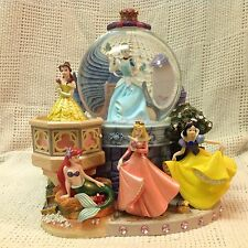Disney Princesses MAGICAL WISHING PLACES Musical Snow Globe-MIB