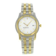 Gucci 5500 YA055216 Stainless Steel Gold Plated Quartz Men's Watch