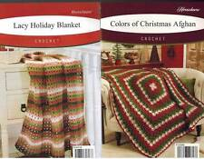 Christmas Afghan Crochet PATTERNS Holiday Blanket Warm Wraps Throws Herrschners